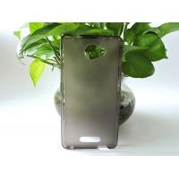 Силиконовый матовый полупрозрачный чехол для Alcatel Pop 4S  Серый