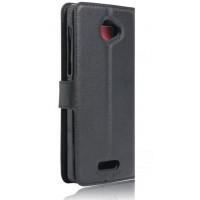 Чехол портмоне подставка на силиконовой основе на магнитной защелке для Alcatel Pop 4S  Черный