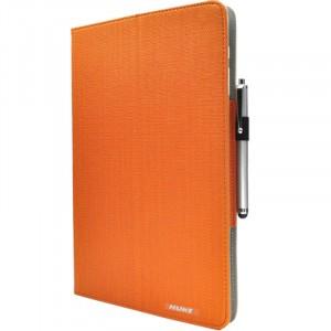 Чехол книжка подставка с рамочной защитой экрана, крепежом для стилуса и тканевым покрытием для Huawei MateBook Оранжевый