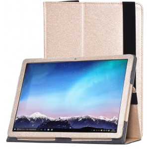 Чехол книжка подставка с рамочной защитой экрана, поддержкой кисти и тканевым покрытием для Huawei MateBook