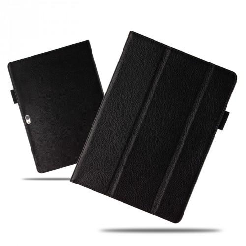 Кожаный чехол книжка подставка (премиум нат. кожа) для Huawei MateBook