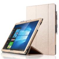 Сегментарный чехол книжка подставка текстура Линии с рамочной защитой экрана и крепежом для стилуса для Huawei MateBook  Бежевый