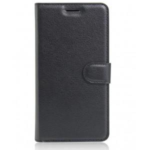 Чехол портмоне подставка на силиконовой основе на магнитной защелке для Acer Liquid Zest Черный
