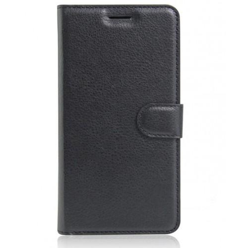 Чехол портмоне подставка на силиконовой основе на магнитной защелке для Acer Liquid Zest Коричневый