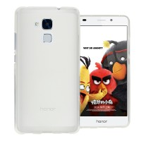 Силиконовый матовый полупрозрачный чехол для Huawei Honor 5C Белый