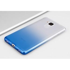 Силиконовый матовый полупрозрачный градиентный чехол для Huawei Honor 5C  Синий