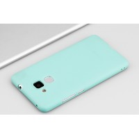 Силиконовый матовый непрозрачный чехол для Huawei Honor 5C Голубой