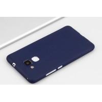 Силиконовый матовый непрозрачный чехол для Huawei Honor 5C Синий