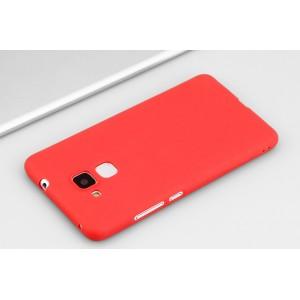 Силиконовый матовый непрозрачный чехол для Huawei Honor 5C Красный