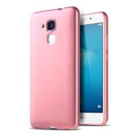 Силиконовый матовый непрозрачный чехол с текстурным покрытием Узоры для Huawei Honor 5C  Розовый