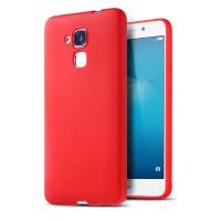 Силиконовый матовый непрозрачный чехол с текстурным покрытием Узоры для Huawei Honor 5C  Красный