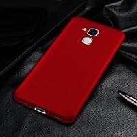 Пластиковый непрозрачный матовый чехол с улучшенной защитой элементов корпуса для Huawei Honor 5C Красный