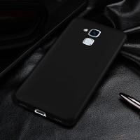 Пластиковый непрозрачный матовый чехол с улучшенной защитой элементов корпуса для Huawei Honor 5C Черный