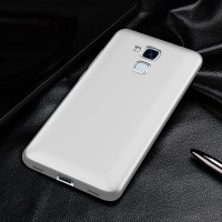 Пластиковый непрозрачный матовый чехол с улучшенной защитой элементов корпуса для Huawei Honor 5C Белый