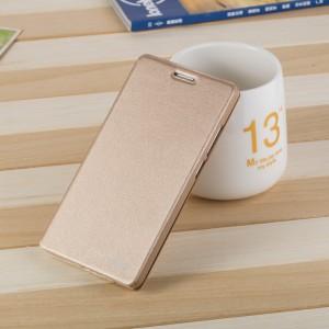 Чехол горизонтальная книжка подставка на пластиковой основе для Huawei Honor 5C  Бежевый