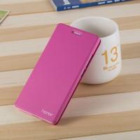 Чехол горизонтальная книжка подставка на пластиковой основе для Huawei Honor 5C  Пурпурный