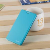 Чехол горизонтальная книжка подставка на пластиковой основе для Huawei Honor 5C  Голубой
