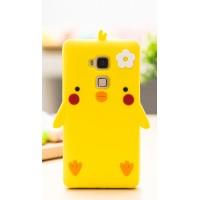 Силиконовый матовый непрозрачный дизайнерский фигурный чехол для Huawei Honor 5C  Желтый