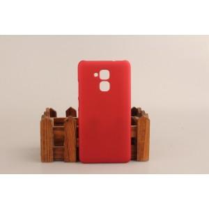 Пластиковый непрозрачный матовый чехол для Huawei Honor 5C Красный