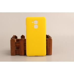 Пластиковый непрозрачный матовый чехол для Huawei Honor 5C Желтый