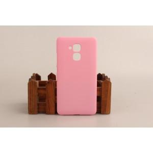 Пластиковый непрозрачный матовый чехол для Huawei Honor 5C Розовый