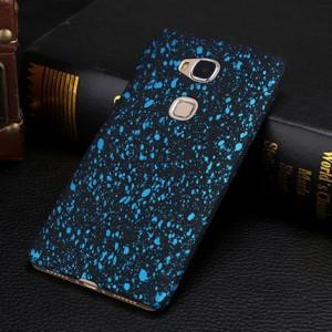 Пластиковый непрозрачный матовый чехол с голографическим принтом Звезды для Huawei Honor 5C Голубой