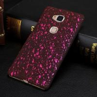 Пластиковый непрозрачный матовый чехол с голографическим принтом Звезды для Huawei Honor 5C Розовый