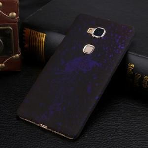 Пластиковый непрозрачный матовый чехол с голографическим принтом Звезды для Huawei Honor 5C Фиолетовый