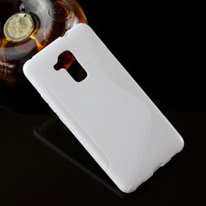 Силиконовый матовый полупрозрачный чехол с дизайнерской текстурой S для Huawei Honor 5C Белый