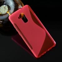 Силиконовый матовый полупрозрачный чехол с дизайнерской текстурой S для Huawei Honor 5C Красный