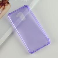 Силиконовый матовый полупрозрачный чехол с улучшенной защитой элементов корпуса (заглушки) для Huawei Honor 5C  Фиолетовый
