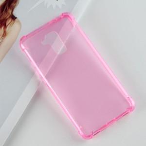 Силиконовый матовый полупрозрачный чехол с улучшенной защитой элементов корпуса (заглушки) для Huawei Honor 5C  Розовый