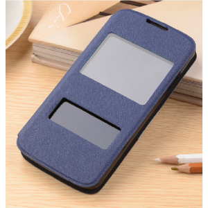 Текстурный чехол горизонтальная книжка подставка на силиконовой основе с окном вызова и свайпом для Elephone P8000