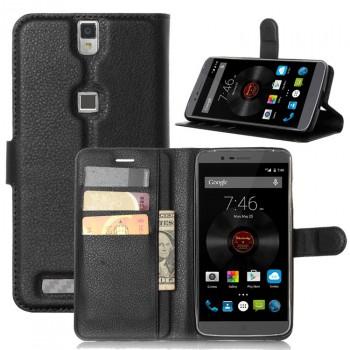Чехол портмоне подставка на силиконовой основе на магнитной защелке для Elephone P8000