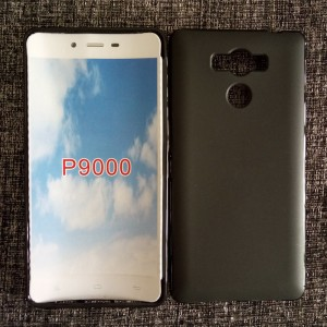 Силиконовый матовый полупрозрачный чехол для Elephone P9000 Черный
