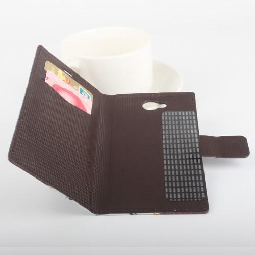 Чехол горизонтальная книжка подставка на клеевой основе с отсеком для карт и полноповерхностным принтом на магнитной защелке для Elephone P9000 Lite
