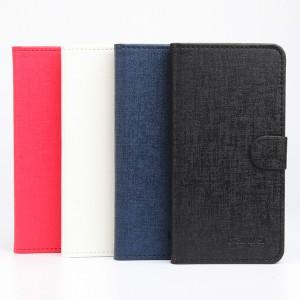 Чехол горизонтальная книжка подставка на клеевой основе с отсеком для карт и текстурным покрытием на магнитной защелке для Elephone P9000 Lite