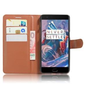 Чехол портмоне подставка на силиконовой основе на магнитной защелке для OnePlus 3