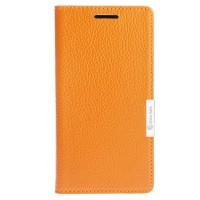 Кожаный чехол горизонтальная книжка подставка на пластиковой основе с отсеком для карт на дизайнерской магнитной защелке для OnePlus 3  Оранжевый
