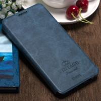 Винтажный чехол горизонтальная книжка подставка на силиконовой основе с отсеком для карт для OnePlus 3  Синий