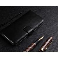 Глянцевый чехол портмоне подставка на силиконовой основе на магнитной защелке для ZTE Blade A510 Черный