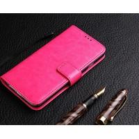 Глянцевый чехол портмоне подставка на силиконовой основе на магнитной защелке для ZTE Blade A510 Розовый