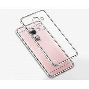Силиконовый матовый полупрозрачный чехол с текстурным покрытием Металлик для LeEco Le 2  Серый