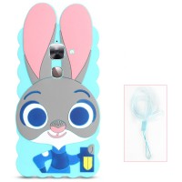 Силиконовый матовый непрозрачный дизайнерский фигурный чехол для LeEco Le 2  Голубой