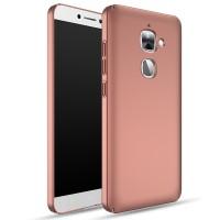 Пластиковый непрозрачный матовый чехол с улучшенной защитой элементов корпуса для LeEco Le 2 Розовый