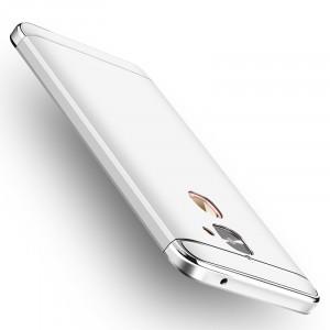Пластиковый непрозрачный матовый сборный чехол с улучшенной защитой элементов корпуса для LeEco Le 2 Белый