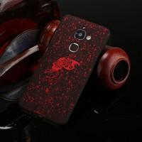 Пластиковый непрозрачный матовый чехол с голографическим принтом Звезды для LeEco Le 2  Красный