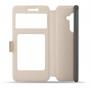 Чехол горизонтальная книжка подставка на силиконовой основе с окном вызова и свайпом на магнитной защелке для LeEco Le 2