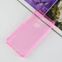 Силиконовый матовый полупрозрачный чехол с усиленными углами для LeEco Le 2 Розовый