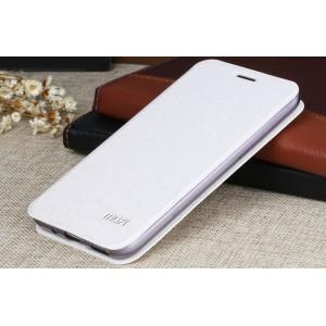 Чехол горизонтальная книжка подставка текстура Соты на силиконовой основе для Meizu M2 Note  Белый